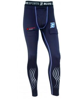 Pantalon Compression avec coquille Blue Sport SDC JR