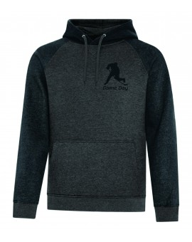 Hoodie Game Day 2-tons Coton Sr Charcoal/Noir